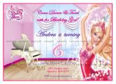Barbie in Pink Shoes Custom Digital YOU PRINT Birthday Invitation Personalised