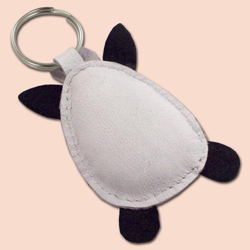 FREE shipping Sweet Little Zebra Leather Animal Keychain