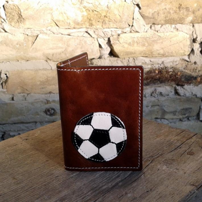 Credit Card Wallet For 4 Credit Cards With Football  Soccer Ball