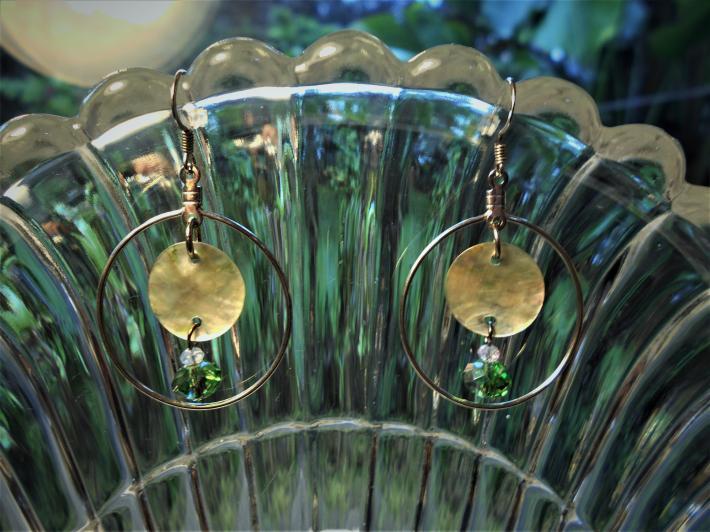 green glass hoops