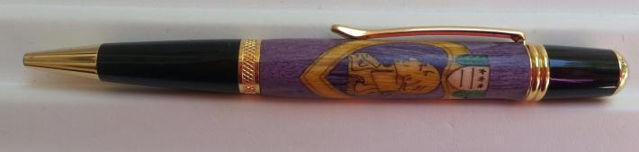 Purple Heart Twist Pen