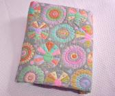 hand quilted twin quilt lap quilt Kaffe Fassett fabric