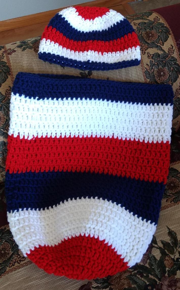 Patriotic Sleep Sack and Hat