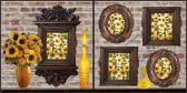 TWO 12x12 SCRAPBOOK PAGES WITH VINTAGE CHARM SUNFLOWERS AND VINTAGE FRAMES