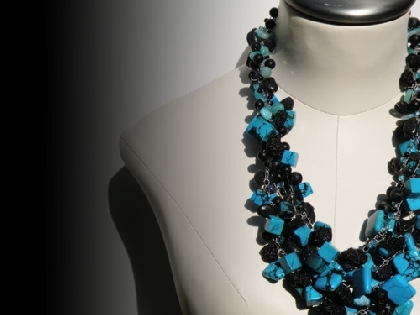 BLUE TURQUOISE Statement Necklace