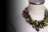 RIPE OLIVES Statement  Necklace