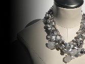 SILVER NUGGET Statement Necklace