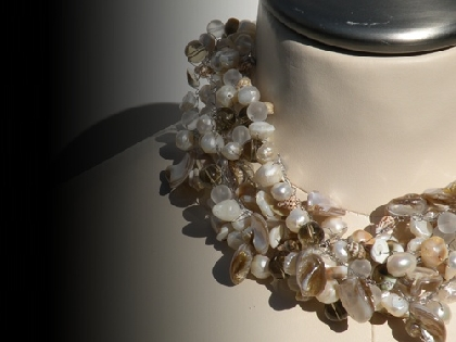 HARVEST PEARL Statement Necklace