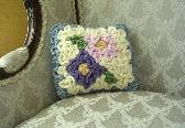 My Secret Garden Crochet Pillow
