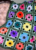 Handmade Crochet Spring Flowers Afghan