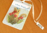 Bookmark Magnetic Gift Tag Cat