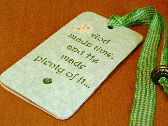 Plenty of Time Magnetic Bookmark Gift Tag