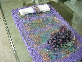 Lavender Crochet Placemats and Napkin Ring Set of 4