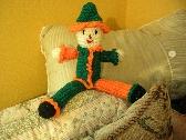 Green and Orange Crochet Clown