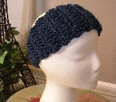 Blue Handmade Crocheted Headband or Ear Warmer