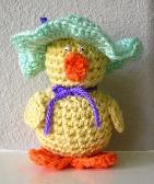 Handmade Crochet Easter Chick   12B003