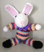 Handmade Crochet YoYo Easter Bunny Rabbit  12B002