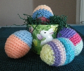 Crochet Easter Eggs Set of 4   11015