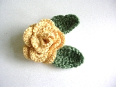 Crochet Rose Embellishment  12B007C