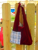 upcycled slouch bag