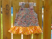 Upcycled Ruffle babydoll toddler dress