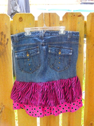 Upcycled Ladies skirt size 11