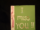Bright I Miss You Card