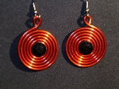 earrings     red spiral     black crystal element