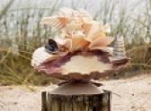 Shell art candle holder