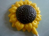 Sunflower Chocolate Lollipops Order of 6