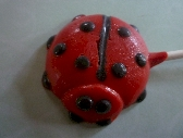 Ladybug Lollipops Spring Summer party Favor Order of 6
