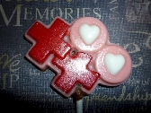 Chocolate Hugs and Kisses Lollipops Order of 6