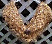 Hand Knit Womens Gold Shawl