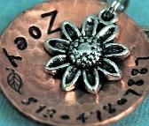 Custom Pet id tag  So Daisy copper domed