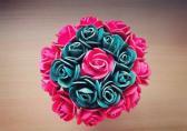 Decorative flowers in pot