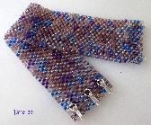 Peyote Stitch Wide Bracelet Lilac and Purple