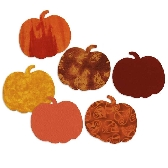 Pumpkin Fabric Appliques Die Cut Cotton Quilting Kit