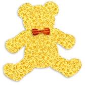Teddy Bear Die Cut Fabric Appliques Quilting Kit