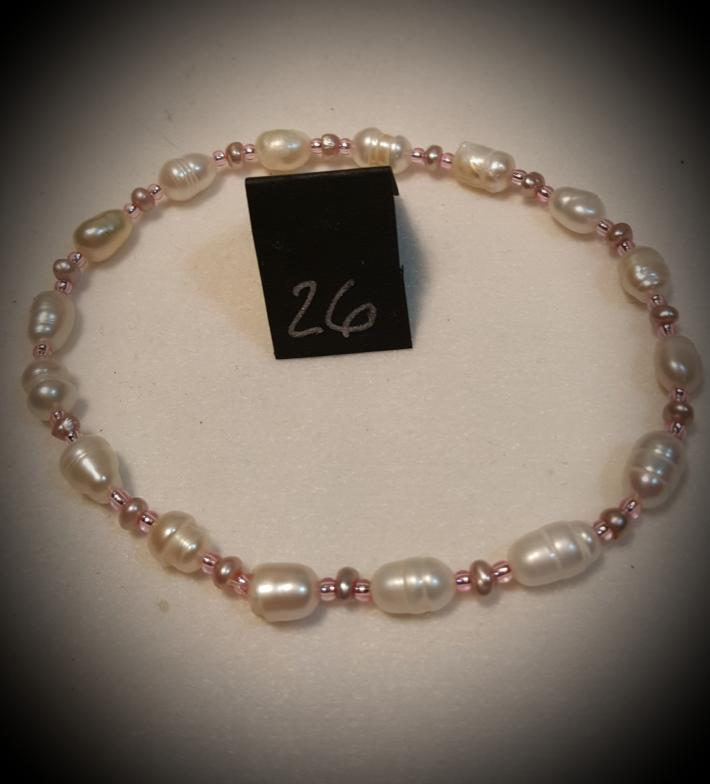 Elastic Semi precious bead bracelets