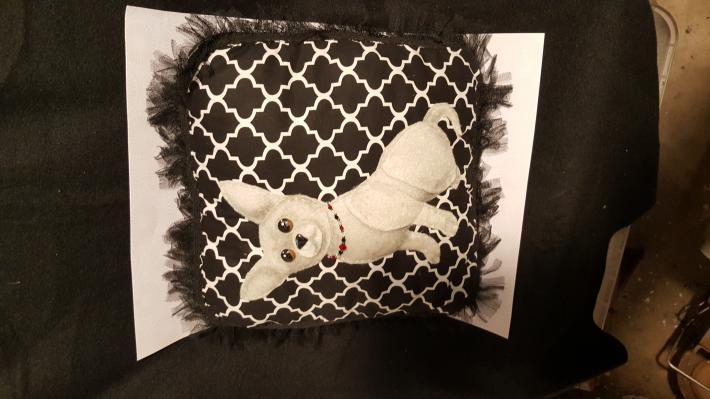 3D chihuahua pillow