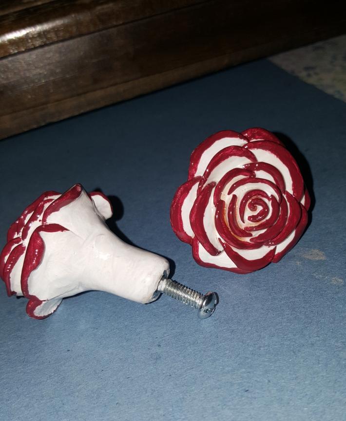 Polymer rose drawer pulls