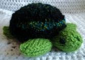 Knitted Green Turtle Toy