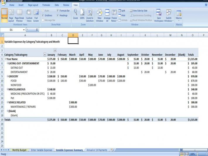 Personal Budget Template Printable and Editable Budget Planner on – Personal Budget Template