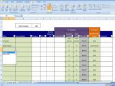 Materials Inventory Tracking Template Calculates Amount of Materials Available