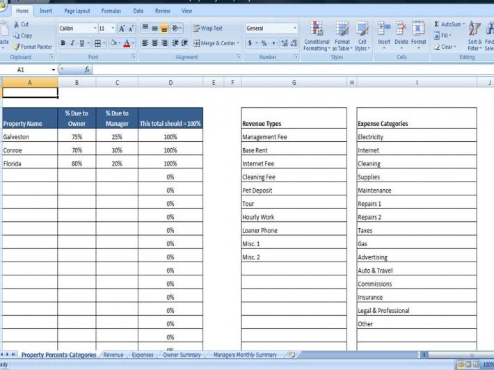 Property Managers Template Rent Income and Expense Tracking – Rental Expense Worksheet