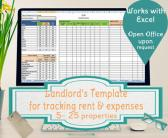 Landlords Spreadsheet Template Rent and Expenses Worksheet for Short Term Rentals