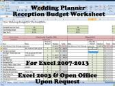 Printable Wedding Venue and Reception Budget Planner