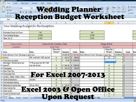 Printable wedding venue and reception budget planner on handmade printable wedding venue and reception budget planner junglespirit Gallery