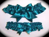 Jade BB Satin Wedding Garter Set