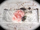 Vintage Peach Rose Lace Bridal Garter 1 520
